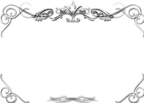 銀色的豪華裝飾框架
