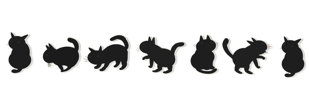 Black cat row