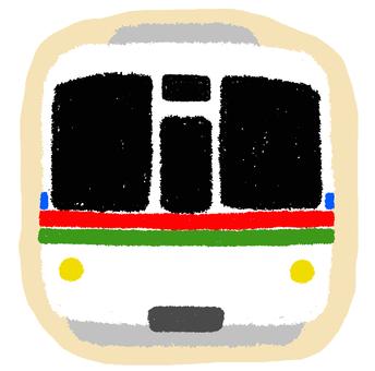 Seibu line 4000 series train flake seal