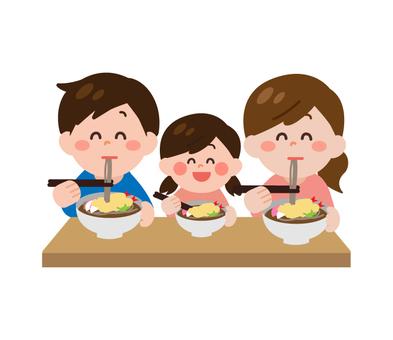 家庭吃蕎麥麵