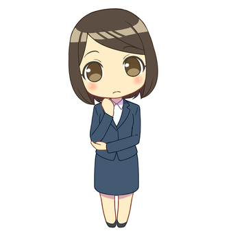 A woman in a suit