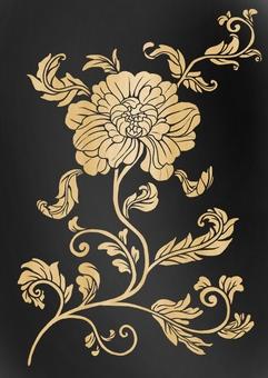 중국 風牡丹 무늬