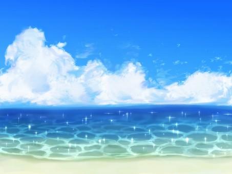 藍色的大海