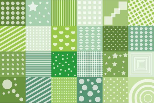 Wallpaper - Patchwork S - Green series