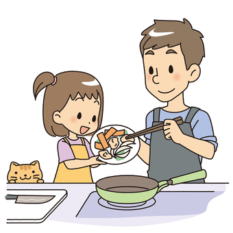 Cooking with parent and child 2