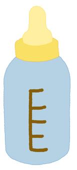 Baby bottle blue