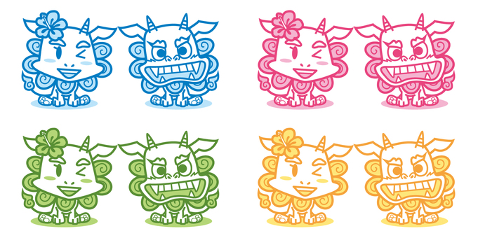 Illustration of Okinawa Shisa