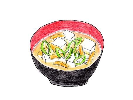 Tofu and green onions miso soup