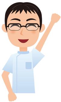 Working Male - Nurse _ Guts pose