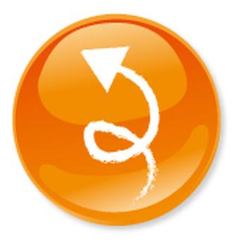 Hand drawn arrow icon - orange