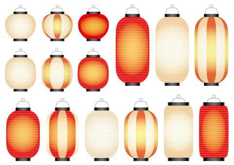 Illustration set of lanterns