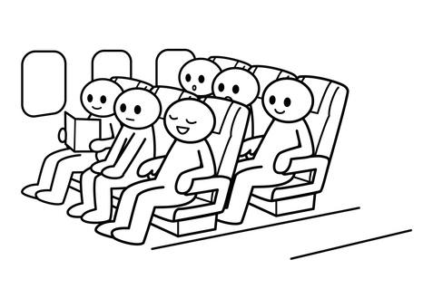 【お題】棒人間-飛行機内