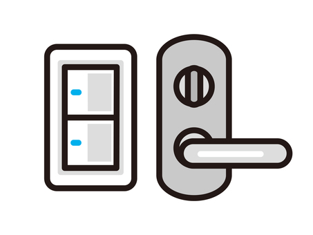 Switch and door knob