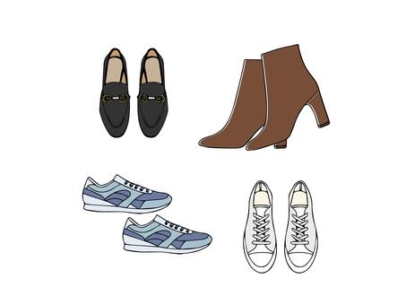 Spring fashion shoes set