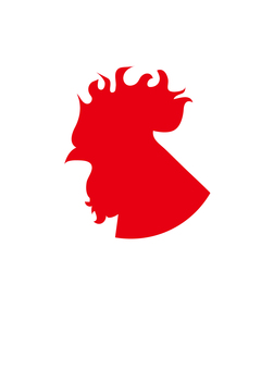 Rooster _ Silhouette _ Red 2