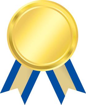 Medal Blue Ribbon Pattern 3