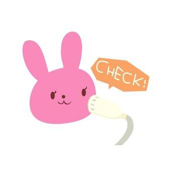 Usagi undergoing skin check