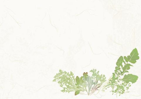 Japanese paper background _ Spring seven species
