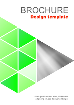Brochure template triangle green