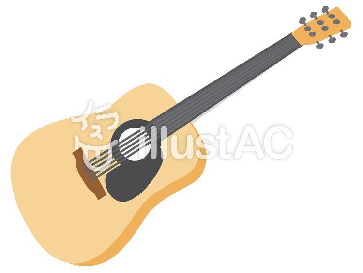 アコースティックギターイラスト No 760824無料イラストなら