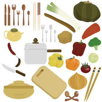 Ingredients and things in the kitchen