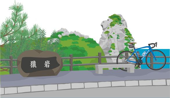 Monkey rock and road bike 2 Iki