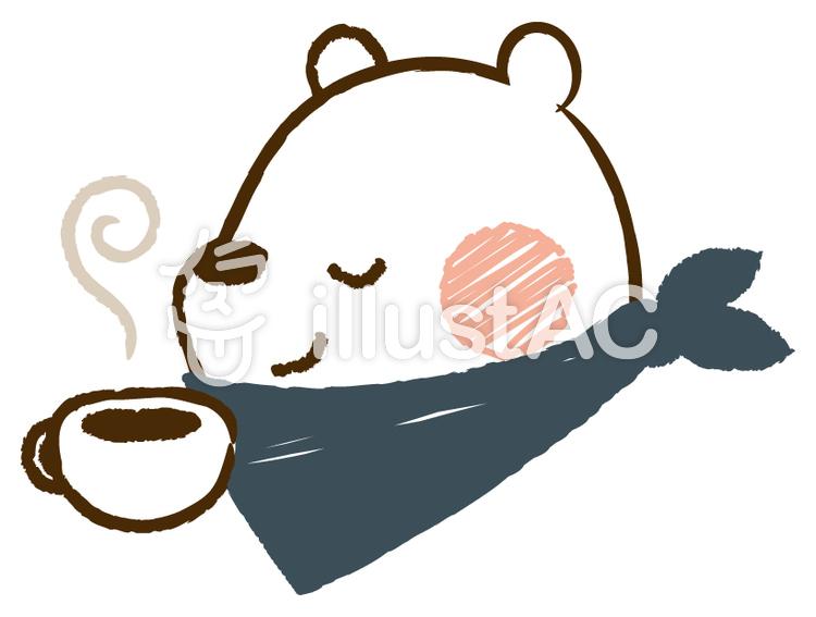 くまさんのコーヒーブレイクイラスト No 221516無料イラストなら