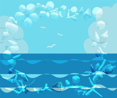 조개와 바다