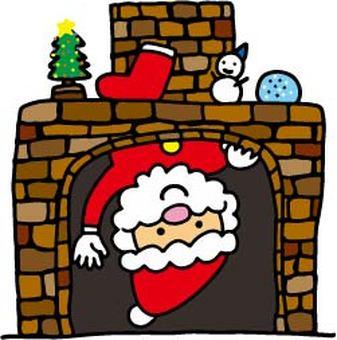 Santa from the entrance