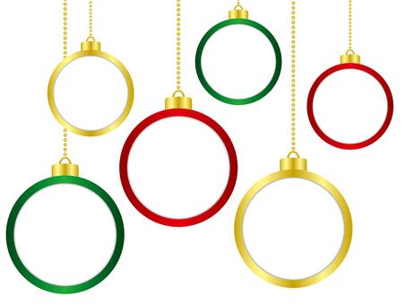 Christmas ornament frame set