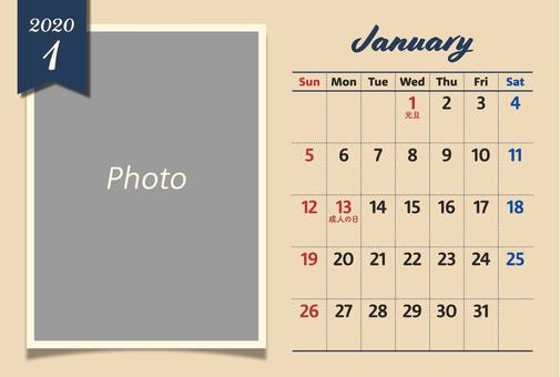 2020年フォトカレンダー 1月