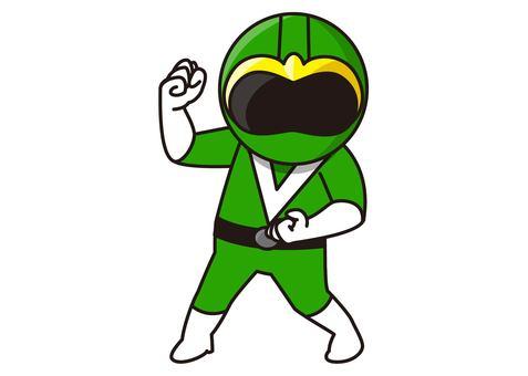 Green Ranger - stance