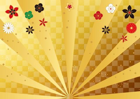 New Year _ radial _ lattice gold _ background