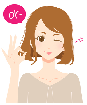 Adult female expression 02 / OK pose