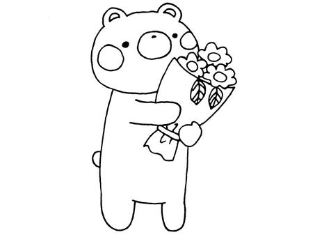 Bouquet and Bear 1 of 1