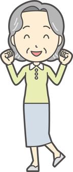 Elderly Bob woman -139 - whole body