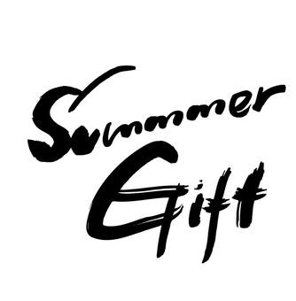 筆字 summer gift