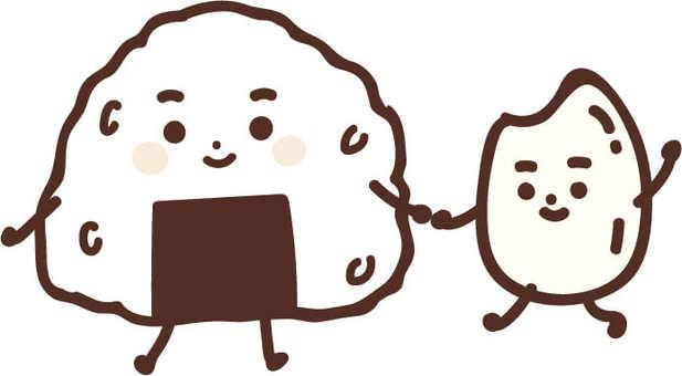 주먹밥과 담아 입자 군 (나카 요시)