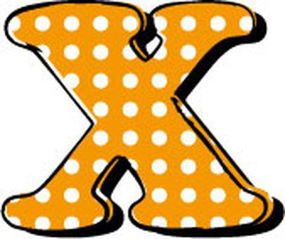 Dotted alphabet X