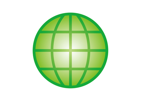 Earth network image (green)