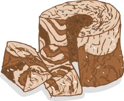 Cocoa chiffon cake