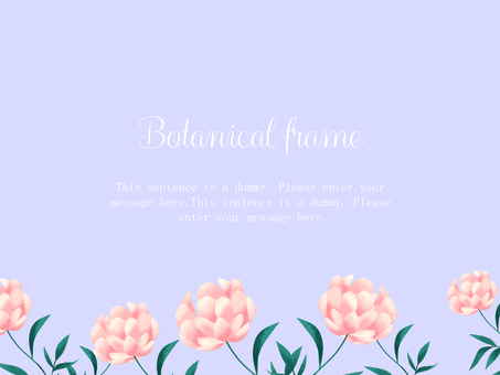 Lotus flower frame / purple