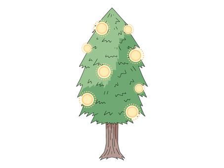 Cedar pollen image illustration