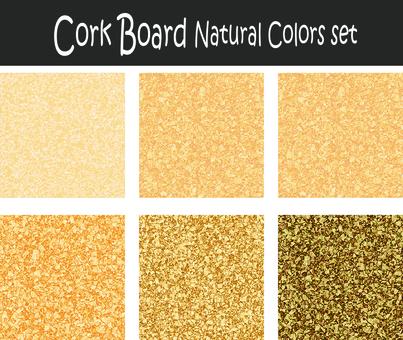 Cork board natural color