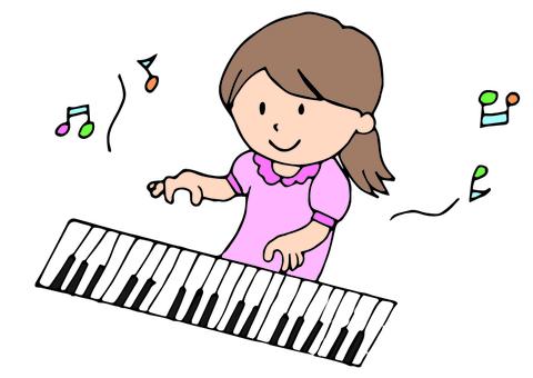피아노를 연주 여자