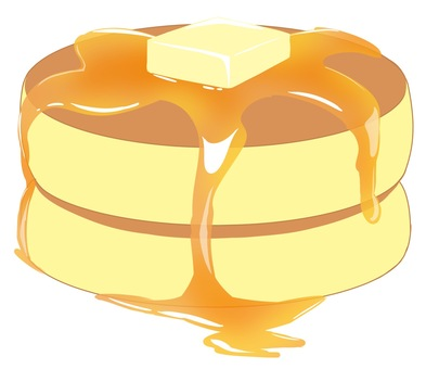 Hot cake that seems to be delicious enough to eat