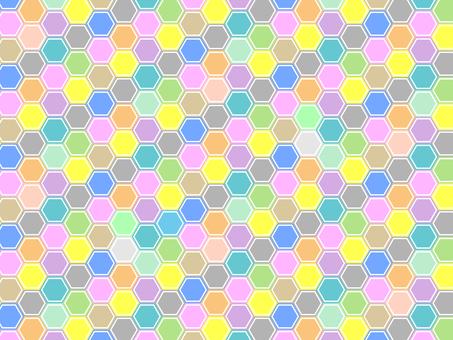 六角形的彩色背景17042303