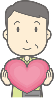 Male Tourism Middle Age - Heart - Bust