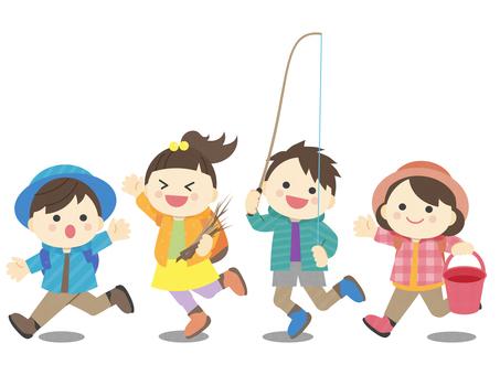 Illustration of summer _ children _ camp