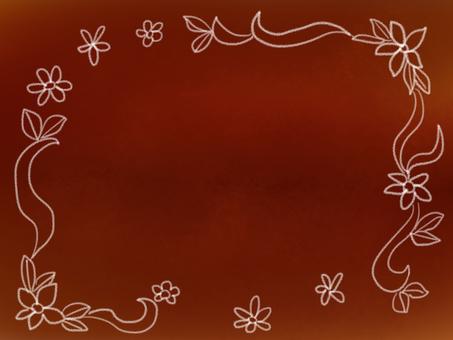 세피아 꽃 카드